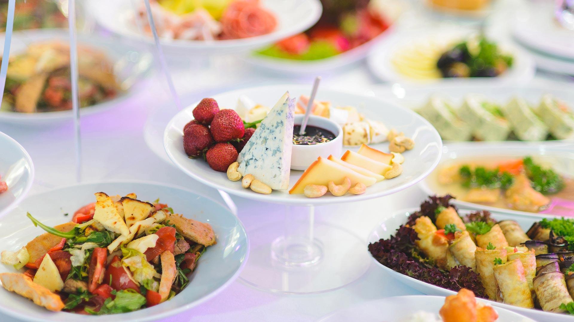 catering a domicilio antipasti buffet