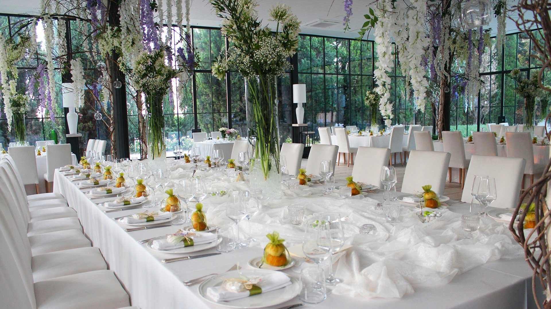 matrimoio in primavera sala allestimento sacchettini