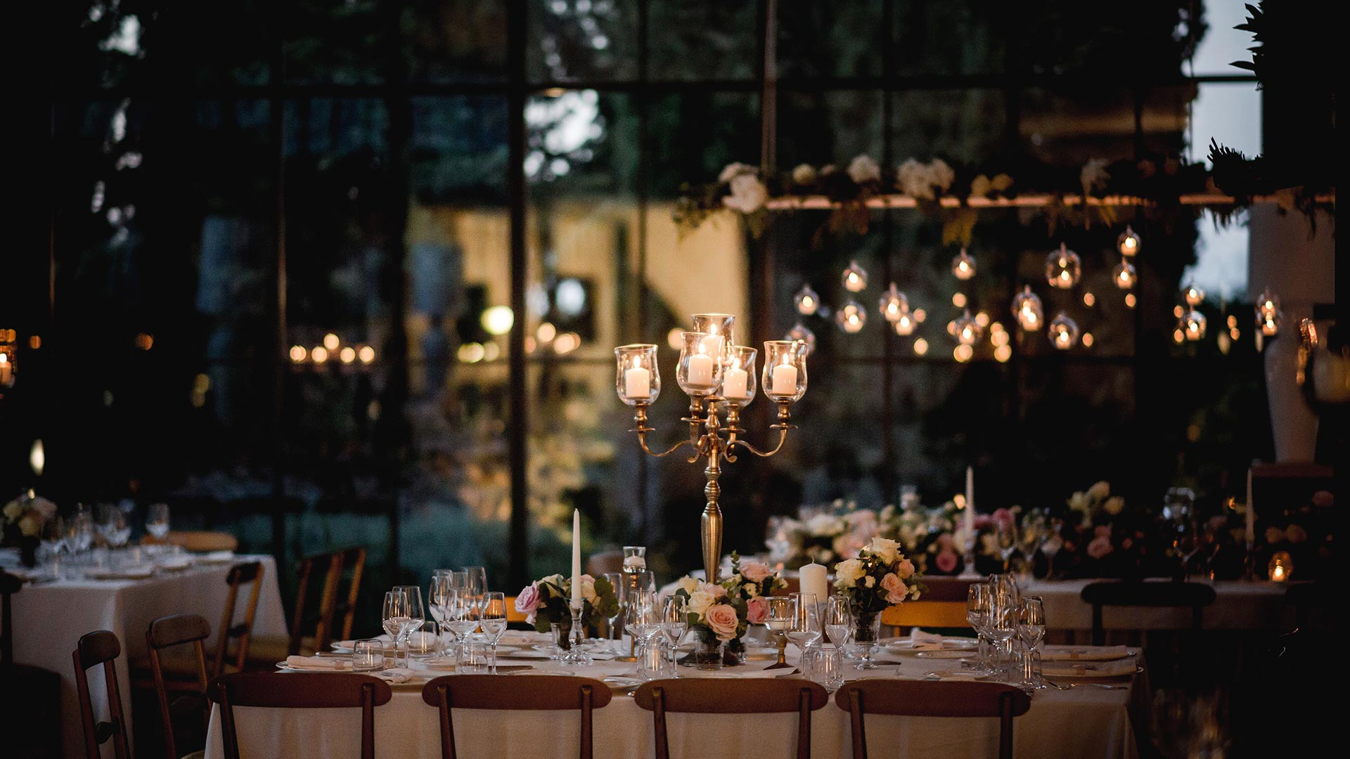matrimonio autunnale candelabro