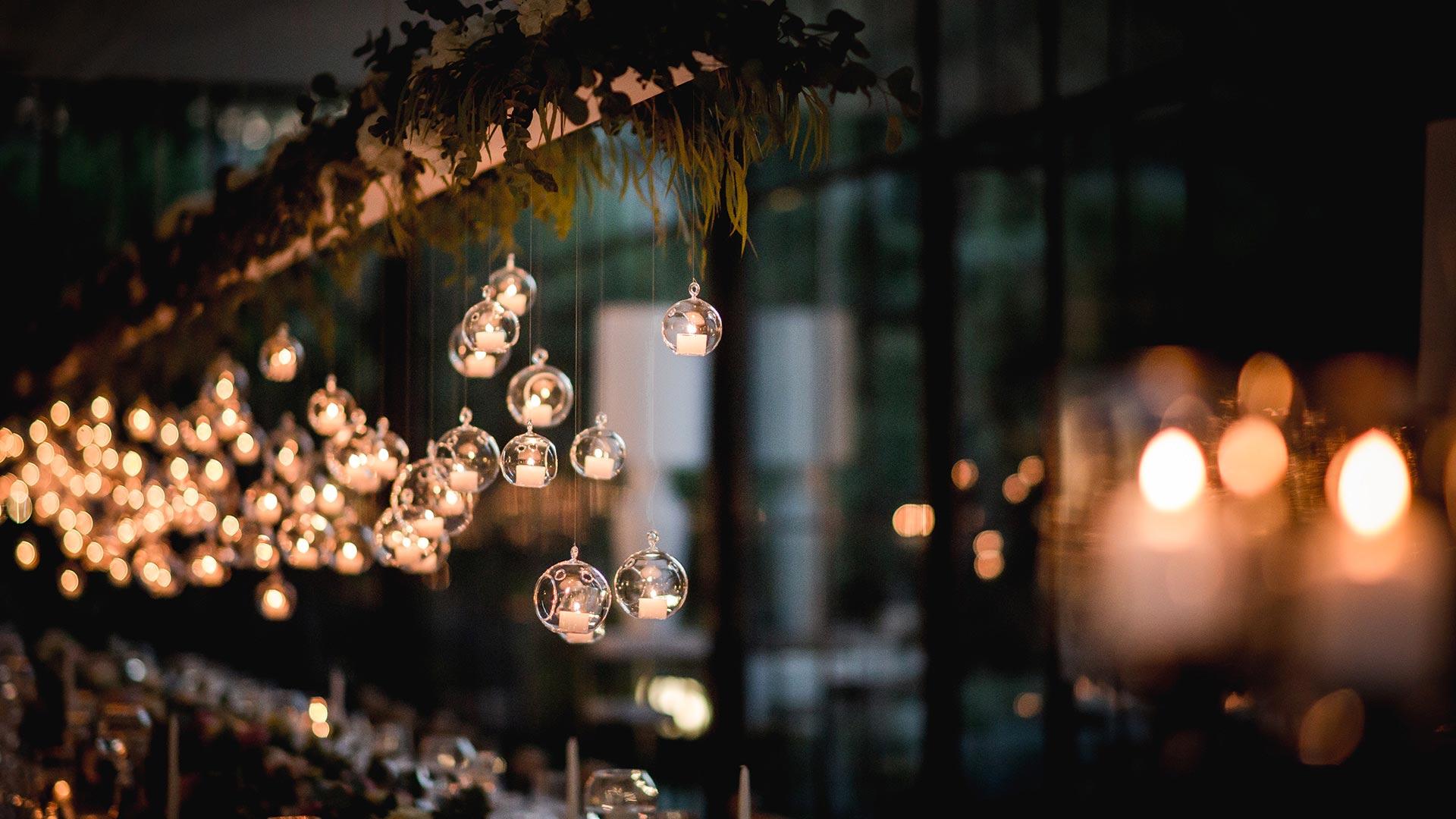 matrimonio autunnale candele