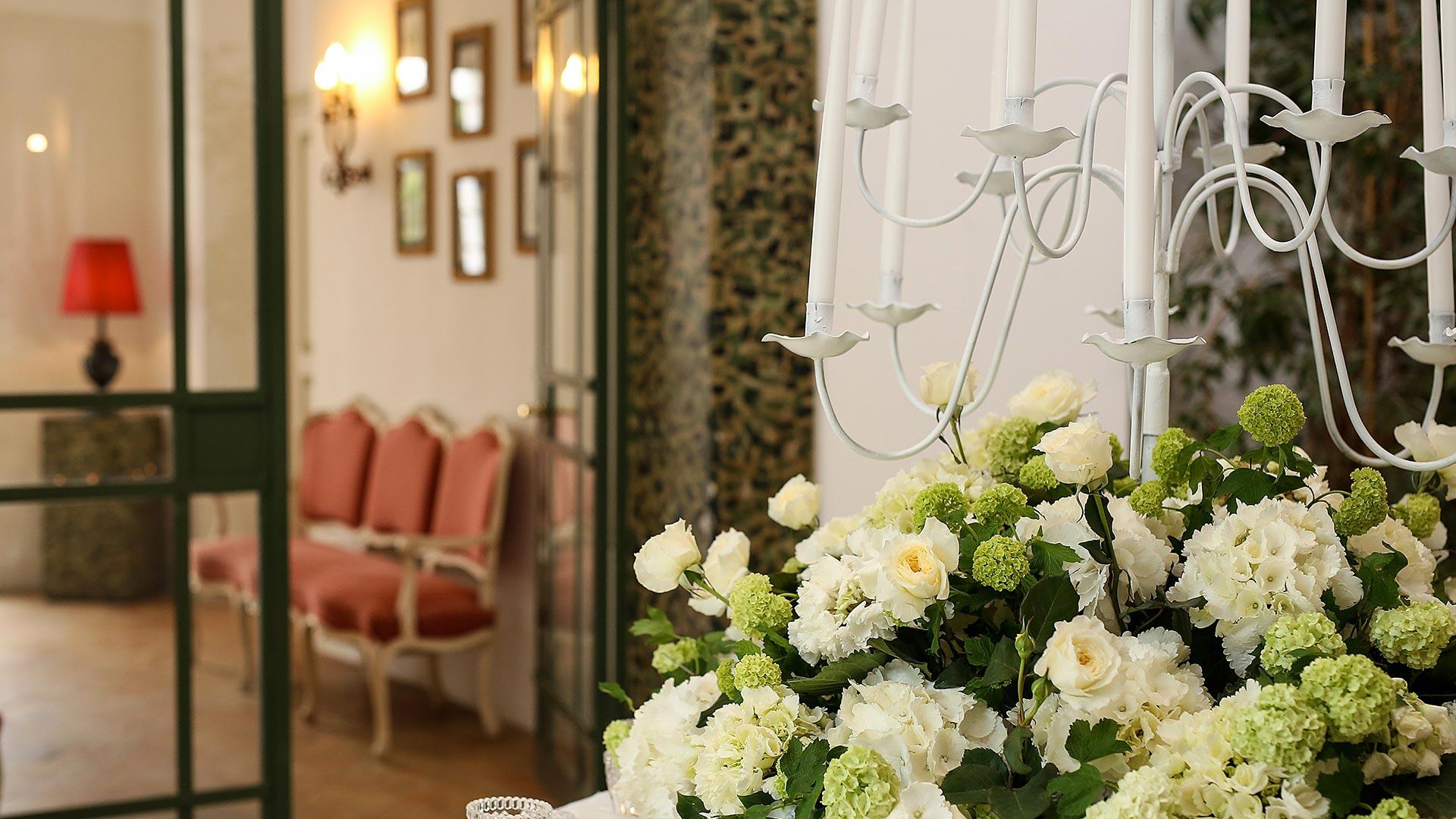 matrimonio autunnale sala interna