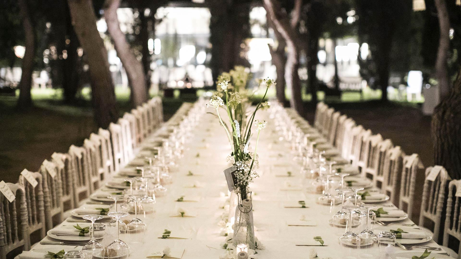 matrimonio estivo tavola imperiale