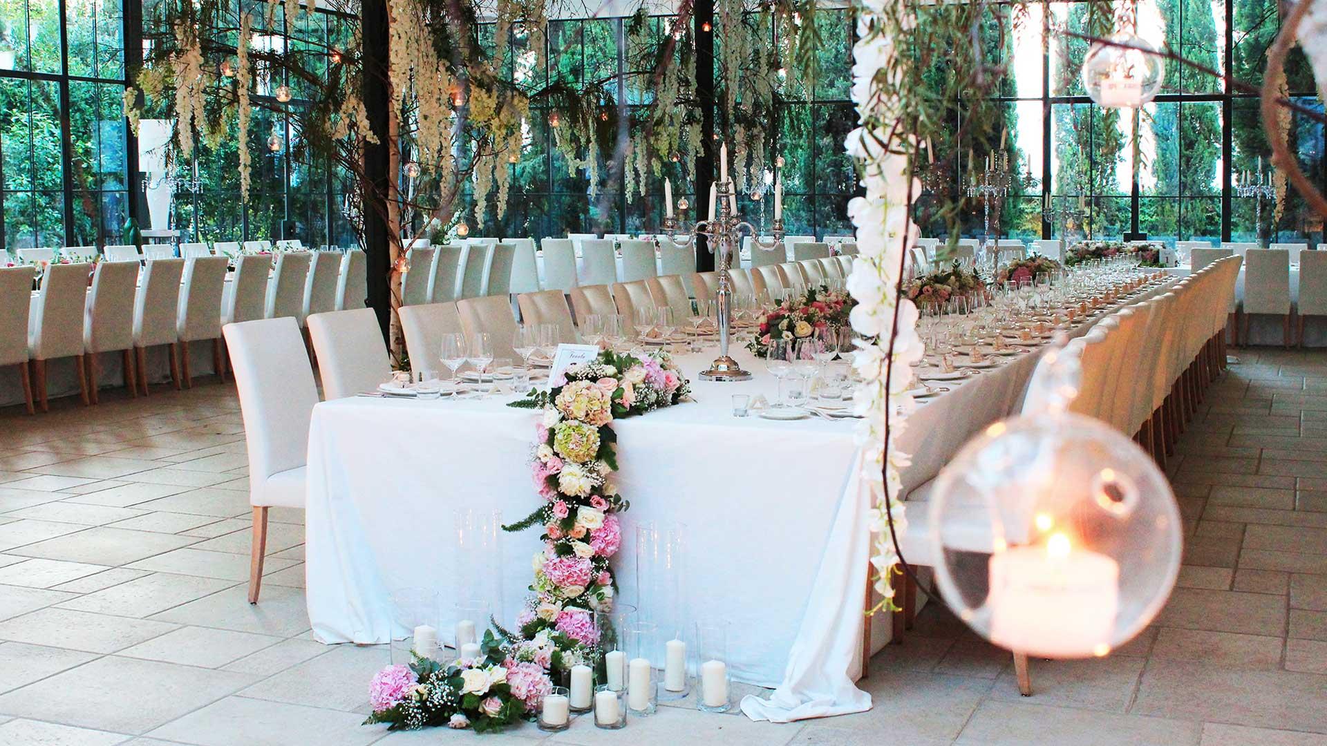 matrimonio estivo tavola serra