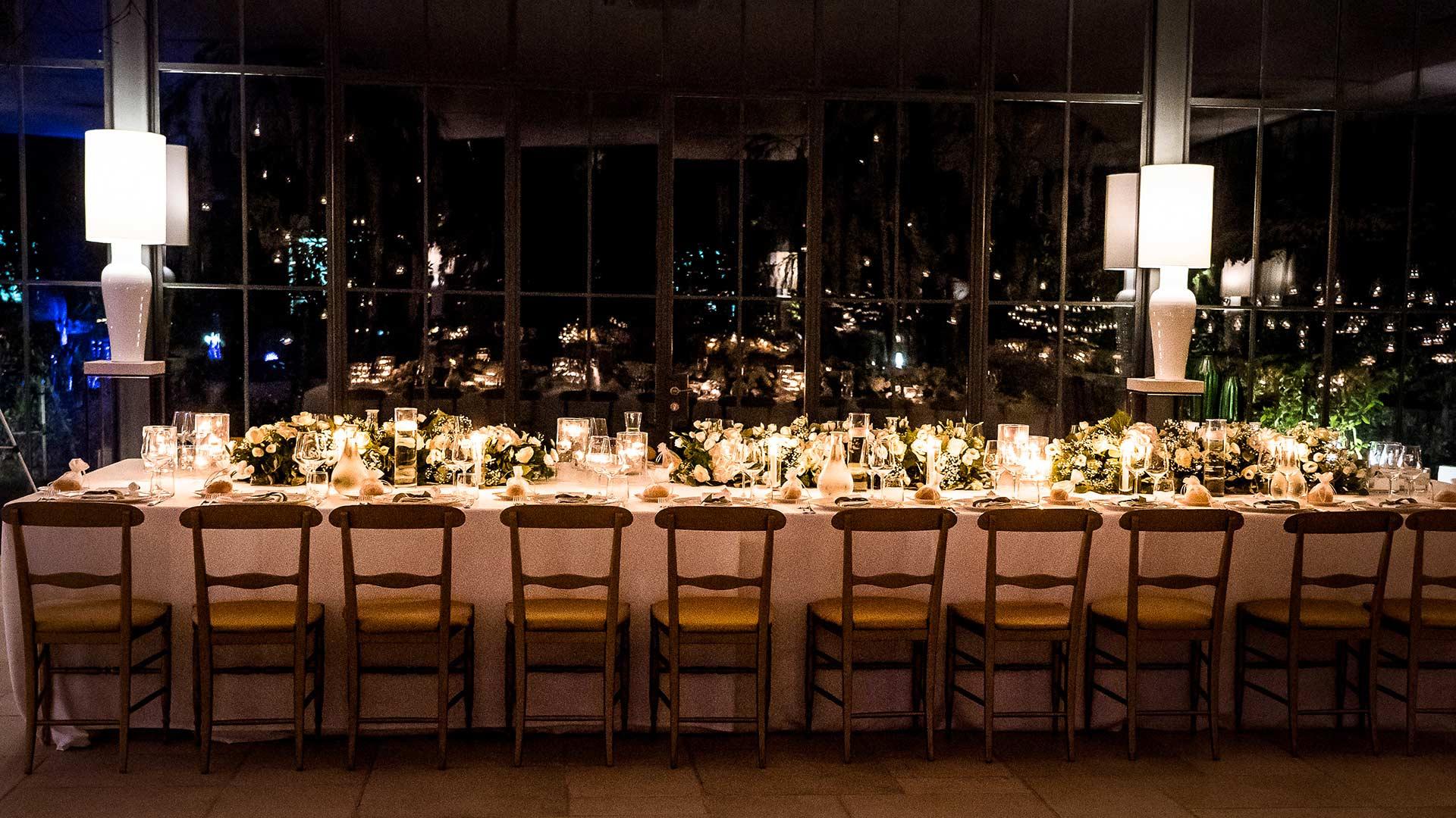 matrimonio estivo tavola