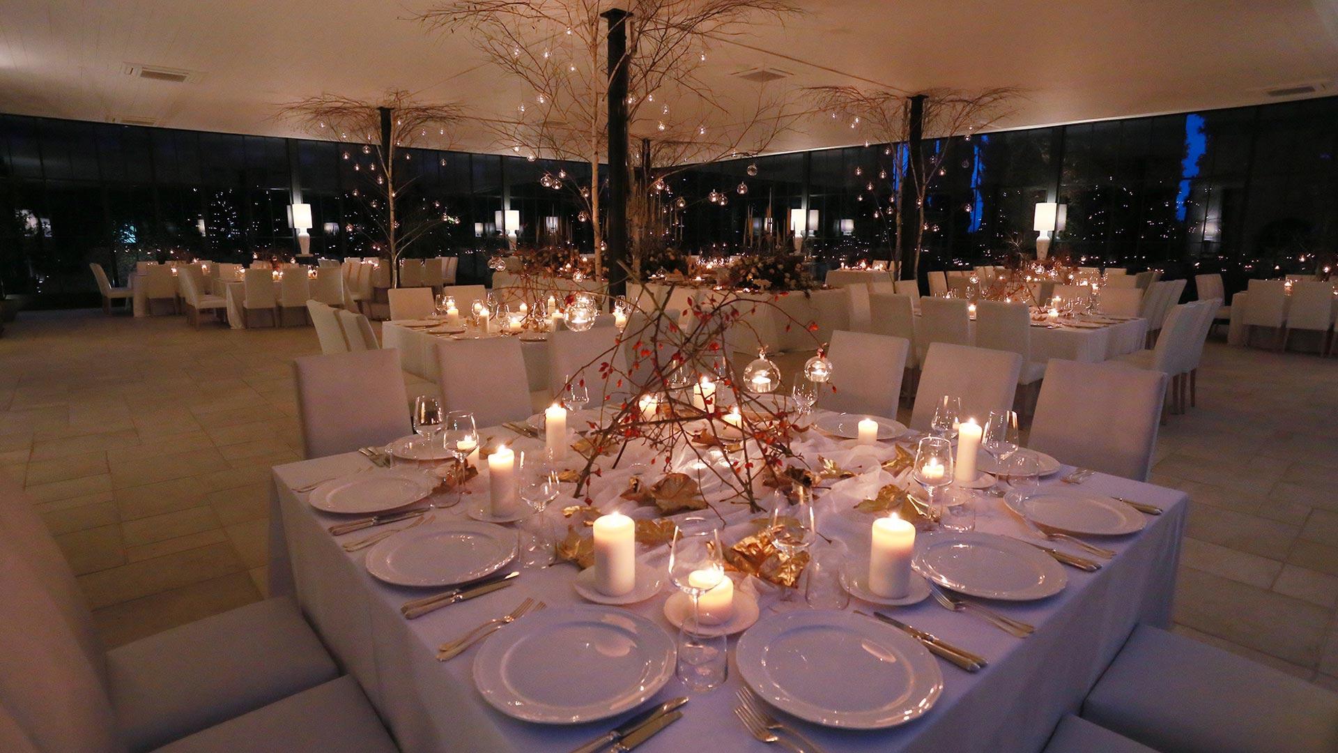 matrimonio invernale tavolo allestito