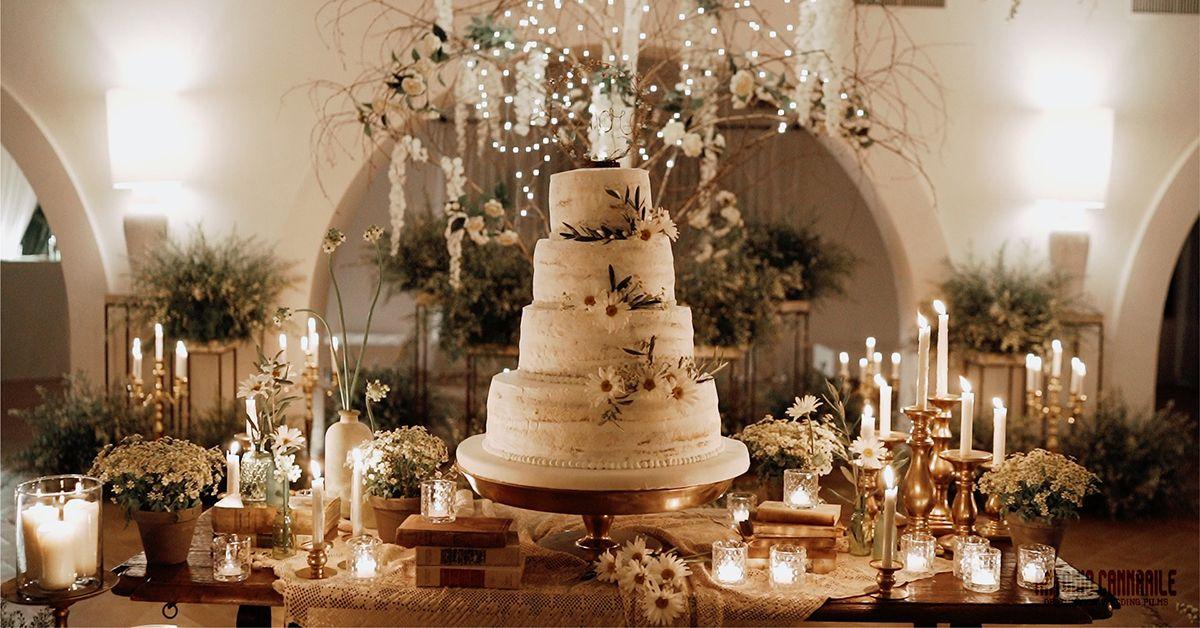 torte nuziali fiori veri
